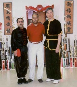 From left to right:  Masters Reza Momenan, Master Deric Mims, and Master Hon Lee